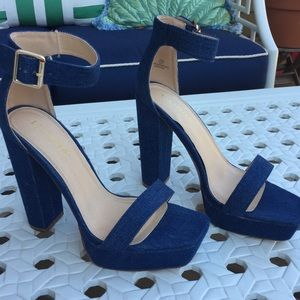 Like new! Liliana Denim Heels